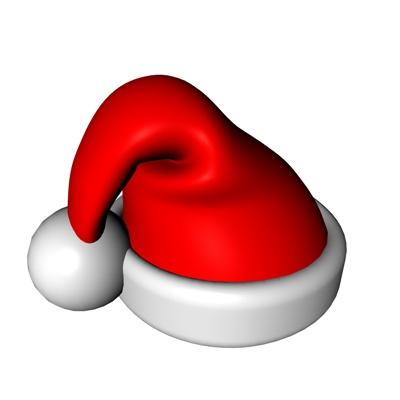 Objet 3d  bonnet de Noël