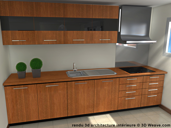 Visualisation d 39 architecture immobilier immeuble en 3d for Modelisation cuisine 3d