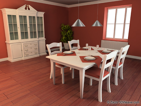 Visualisation d 39 architecture immobilier immeuble en 3d for Salle a manger dessin anime