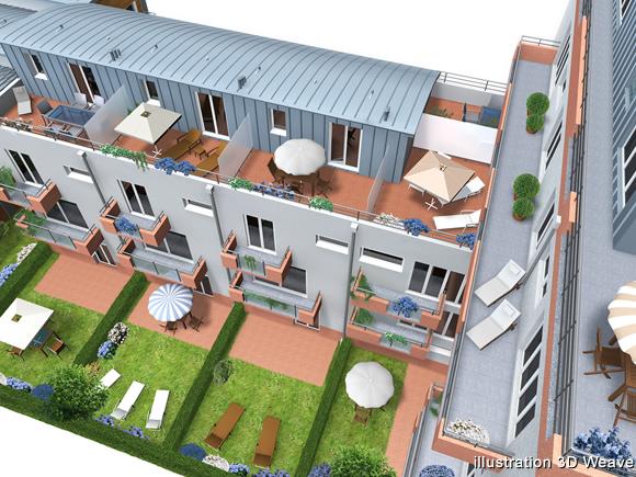 Visualisation D Architecture Immobilier Immeuble En 3d Rendu D